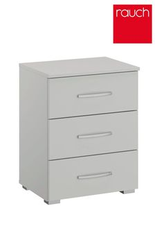 Silk Grey Cameron 3 Drawer Bedside Table by Rauch