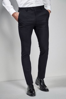 Navy Super Skinny Fit Stretch Tonic Suit: Trousers