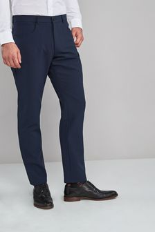 Navy Regular Fit Five Pocket Jean Style Trousers