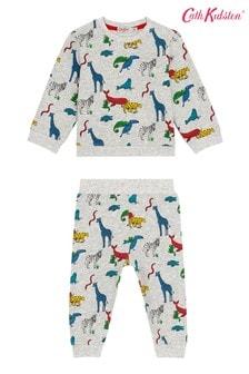 Cath Kidston Baby Grey Animals Sweatshirt And Joggers Set