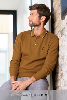Mustard   Tipped Polo