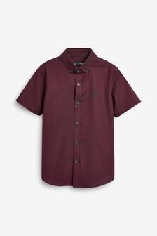 Plum Short Sleeve Oxford Shirt (3-16yrs)