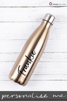Personalised Bronze Water Bottle by Loveabode