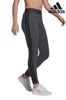 adidas Grey 3 Stripe Leggings