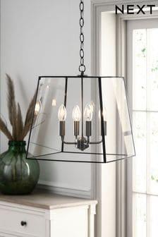 Black Warwick 4 Light Chandelier Ceiling Light