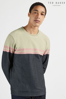 Ted Baker Lawn Long Sleeve Colour Blocked Sweatshirt