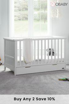 Obaby Belton White Cot Bed