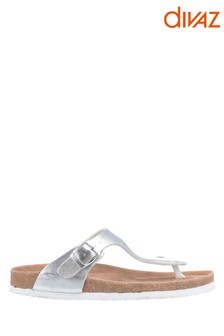 Divaz Silver Ziggy Sandals