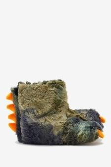 Green Dinosaur Claw Slippers (Older)