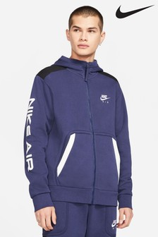 Nike Air Navy Fleece Zip Through Hoody