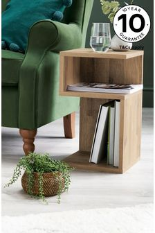 Light Oak Effect Bronx S Side Table / Bedside