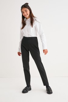 Black Plain Front Trousers (3-16yrs)