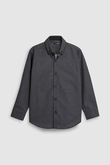 00f7587855 Black Long Sleeve Smart Geo Shirt (3-16yrs)