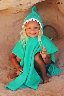 Sunnylife Green Croc Hooded Beach Towel 120cm x 60cm