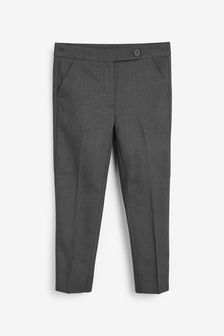 Grey Plain Front Trousers (3-17yrs)