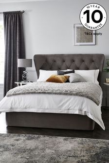 Opulent Velvet Steel Elise Ottoman Storage Bed
