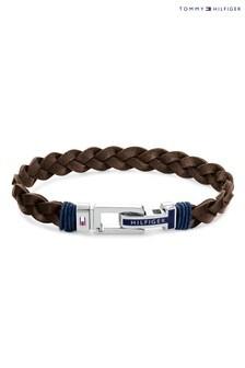 Tommy Hilfiger Brown Leather Bracelet