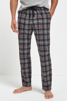 Grey Check Cosy Pyjama Bottoms