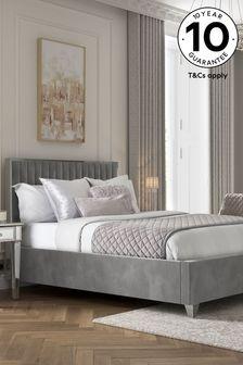 Opulent Velvet Steel Portia Bed