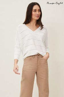 Phase Eight White Florence Broderie Jumper