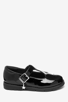 Girls School Shoes | Black Leather
