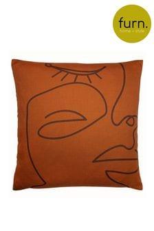 Karma Abstract Faces Cushion by Furn