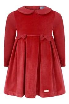 طفل الفتيات الأحمر القوس اللباس