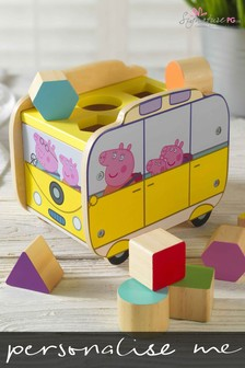 Personalised Peppa Pig™ Shape Sorter Camper by Signature PG