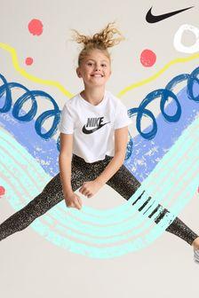 Nike White Futura Cropped T-Shirt