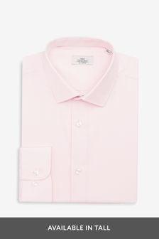 Light Pink Slim Fit Single Cuff Cotton Shirt