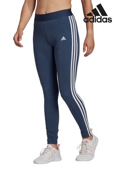 adidas Navy 3 Stripe Leggings