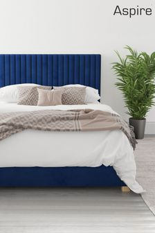 Navy Aspire Grant Ottoman Bed