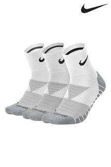 Nike Adult White Cushioned Crew Socks Three Pack