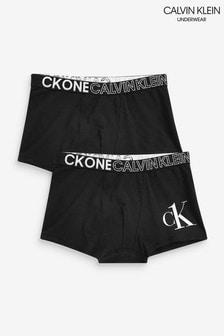 Calvin Klein Black CK One 2 Pack Trunks