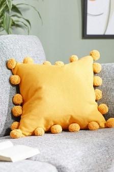 Pom Pom Edge Square Cushion