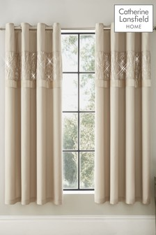 Velvet Sparkle Eyelet Curtains by Catherine Lansfield