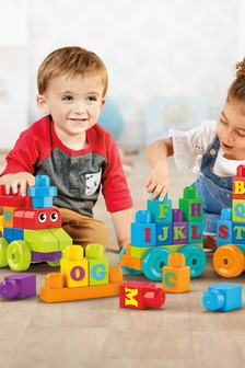 Mega Bloks Building Basics 60 Piece ABC Train Play Set