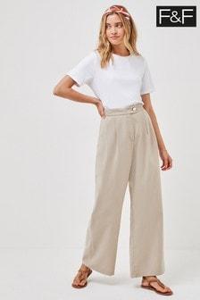 F&F Neutral Wide Leg Trousers