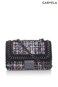 Carvela Black Bailey Quilted Chain Shoulder Bag