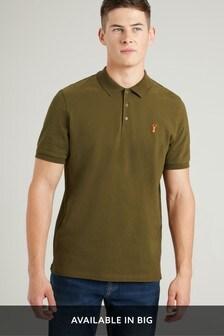 Khaki Regular Fit Pique Poloshirt