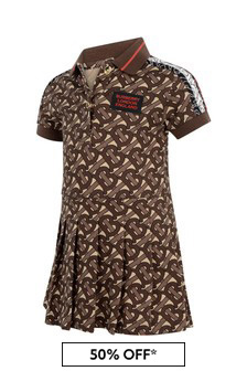 Baby Girls Brown Bridle Cotton Dress