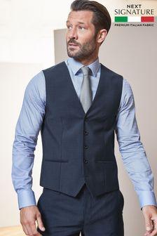 Blue Signature Suit: Waistcoat