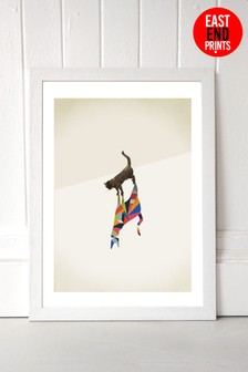 Cat 2 Framed Print by East End Prints