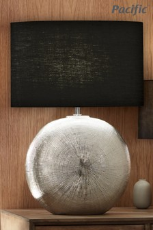 Alpha Silver Textured Ceramic Table Lamp by Pacific
