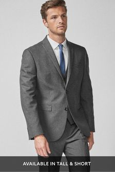 Grey Tailored Fit Puppytooth Suit: Jacket