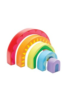 Le Toy Van Wooden Rainbow Tunnel Toy