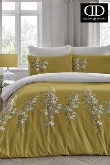 Reversible Oriental Floral Duvet Cover And Pillowcase Set by D&D