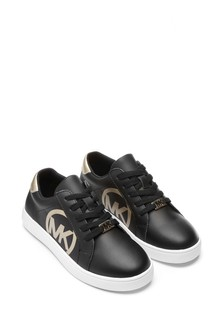 Girls Black Logo Trainers