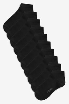 Black 10 Pack Trainer Socks (Older)