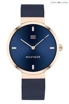 Tommy Hilfiger Watch With Blue Mesh Bracelet